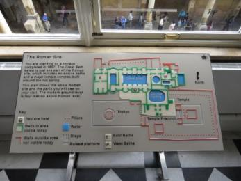 Tactile map of the Roman Baths