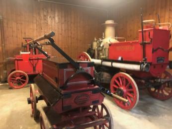 Inside Fire Engine Exhibit