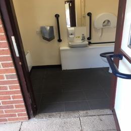 toilet door entrance