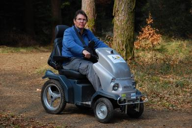 Two off-road mobility scooters are available to hire at Haldon.