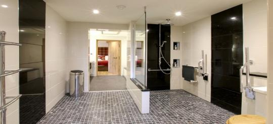 The Dairy - large wet room with removable rails/bars/shower seat