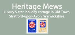 Heritage Mews 5 star Gold Award self catering cottage, Stratford-upon-Avon, Warwickshire