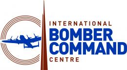 IBCC Logo - spire circle, Lancaster Bomber and text