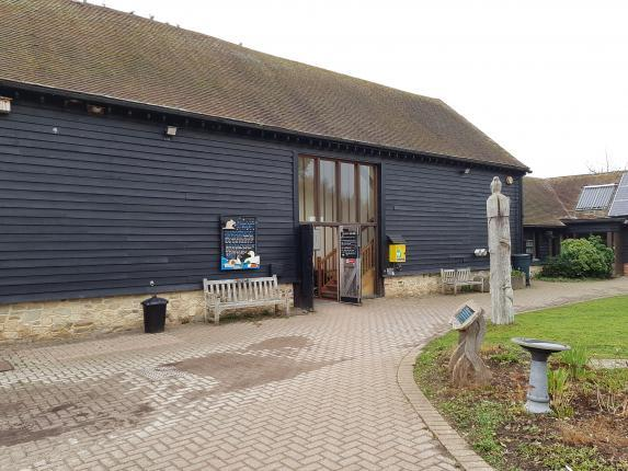 View of the Visitor centre and courtyard