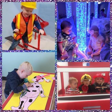 KIDZ TOWN image showing fire station , construction area , sensory room and play hospital