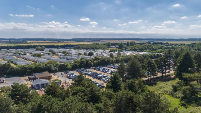 Ariel view of Pinewoods Holiday Park