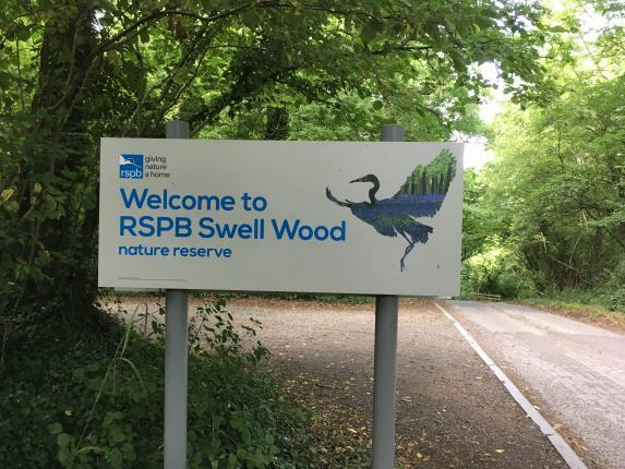 Welcome to RSPB Swell wood sign