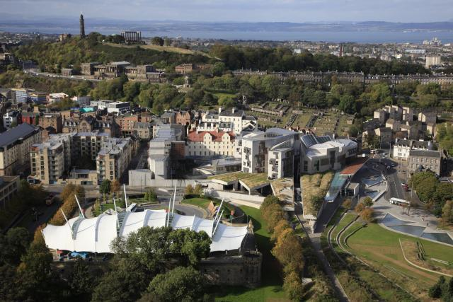 The Scottish Parliament building and Holyrood
