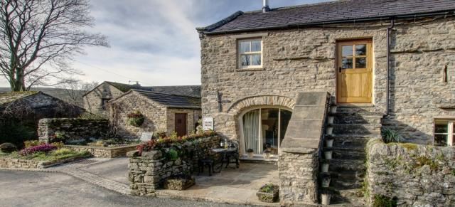 The Byre from Cottage in the Dales, Newbiggin in Bishopdale,  in the Yorkshire Dales National Park