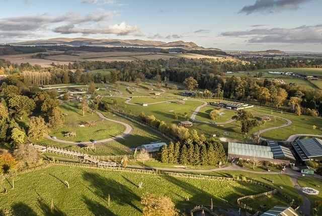 Aerial view of Blair Drummond Safari and Adventure Park