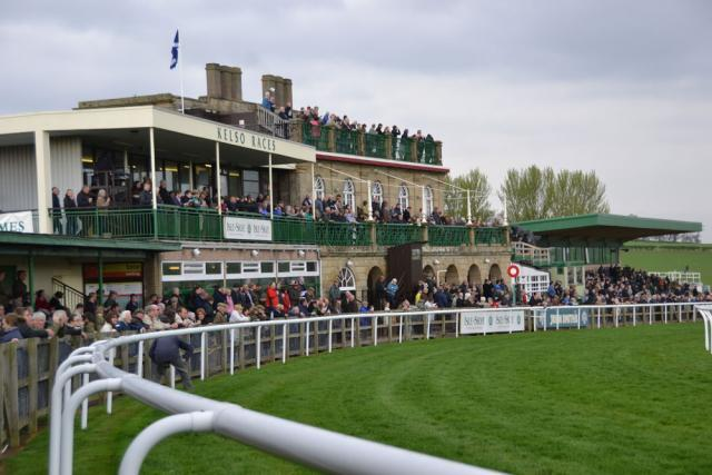 Kelso Racecourse Stand facing the racecourse
