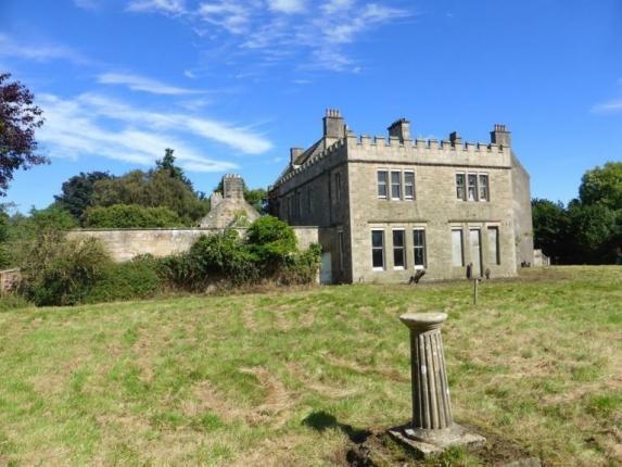 Photo of south side of Bannockburn House with sundial, on a sunny day